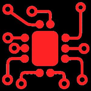Icone de conexão de quadro de tomadas